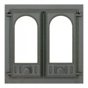 401 SVT каминная дверца со стеклом(двустворчатая)