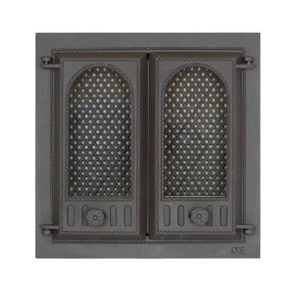 402 SVT каминная дверца со стеклом (двухстворчатая)