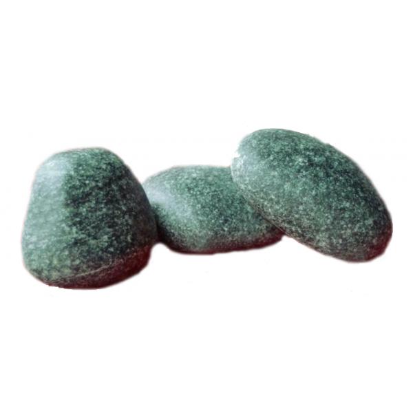 Камень Жадеит Чёрный принц шлифованный (ведро 20 кг)