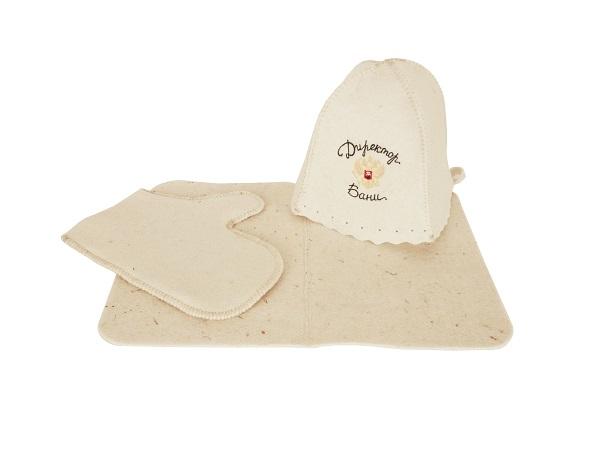 Комплект (шапка, коврик, рукавичка)