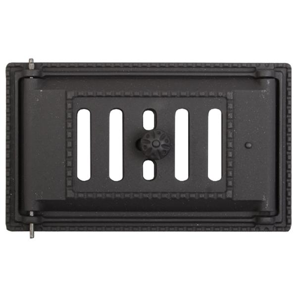 Дверка ДПК (Р) поддувальная крашенная черная 250х140 (ДП-2А)
