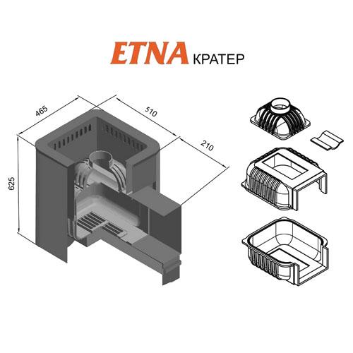 Банная печь ETNA Кратер 18 (ДТ-4С)