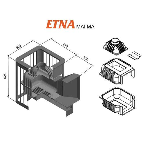 Банная печь ETNA Магма 14 (ДТ-3С)