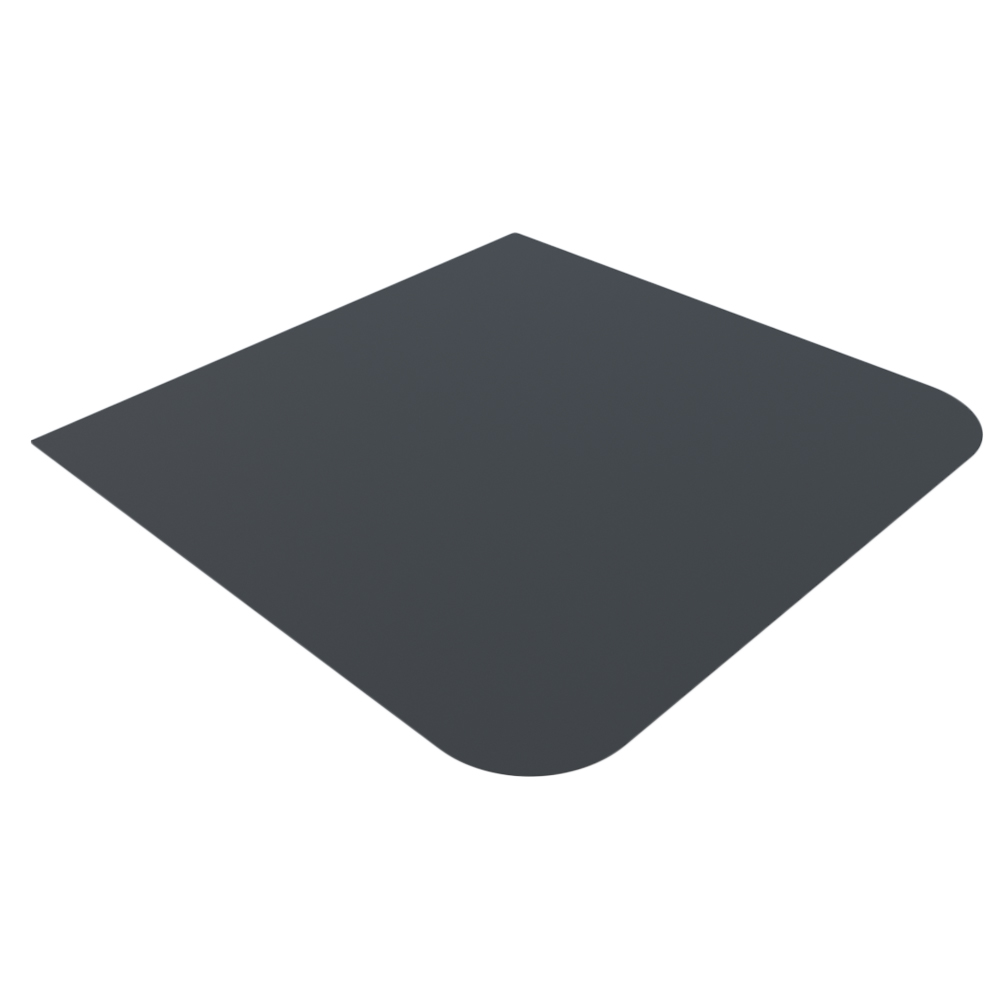 Лист напольный Везувий, 2мм, черный 1000*1000*2 R135