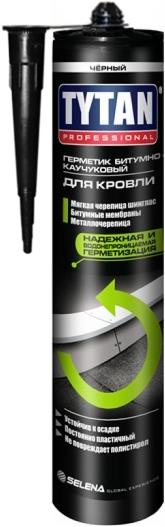 Герметик кровельный Битумно-Каучуковый (черный) TYTAN 310мл
