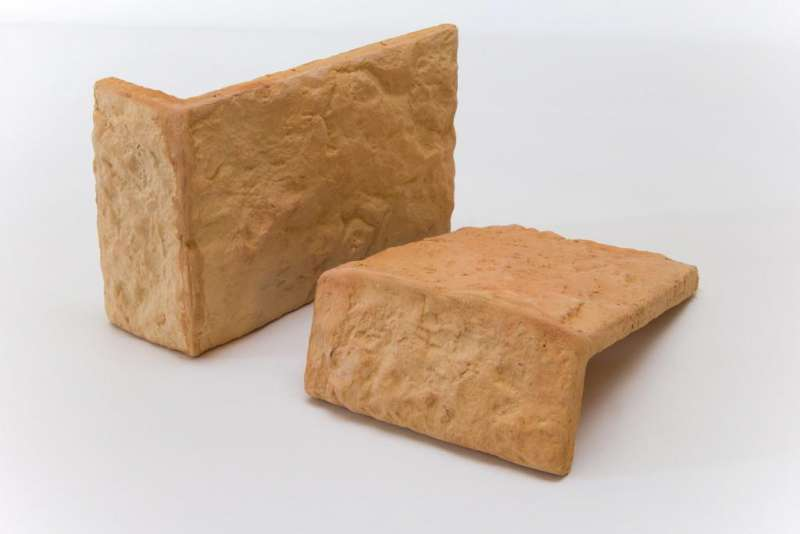 "Плитка ""Терракот"" Рваный камень Макси угловая (18х12,3х5,2 мм) (16 шт)"
