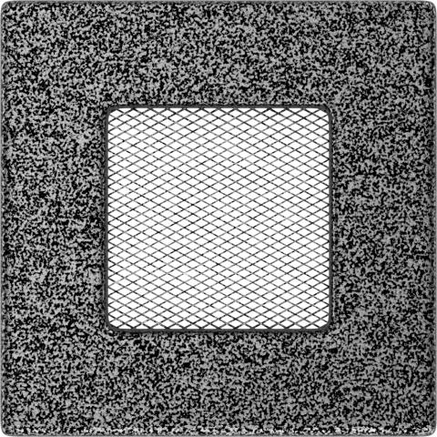Вентиляционная решетка Черная/Серебро (11*11) 11CS