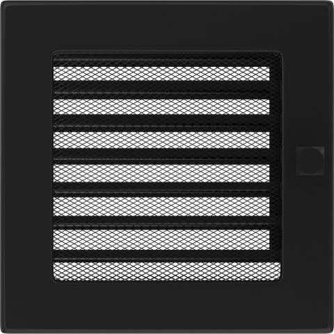 Вентиляционная решетка Черная с задвижкой (17*17) 17CX