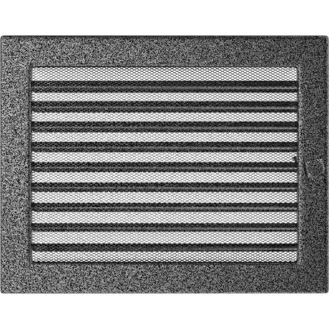 Вентиляционная решетка Черная/Серебро с задвижкой (22*30) 22/30CSX