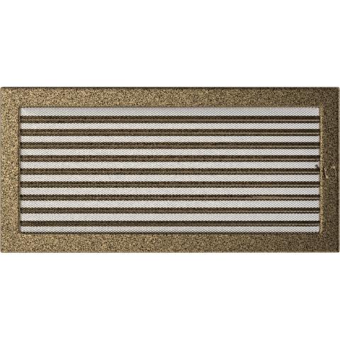 Вентиляционная решетка Черная/Золото с задвижкой (22*45) 22/45CZX
