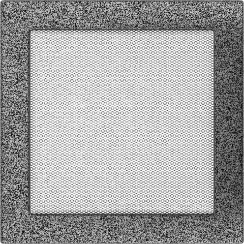 Вентиляционная решетка Черная/Серебро (22*22) 22CS