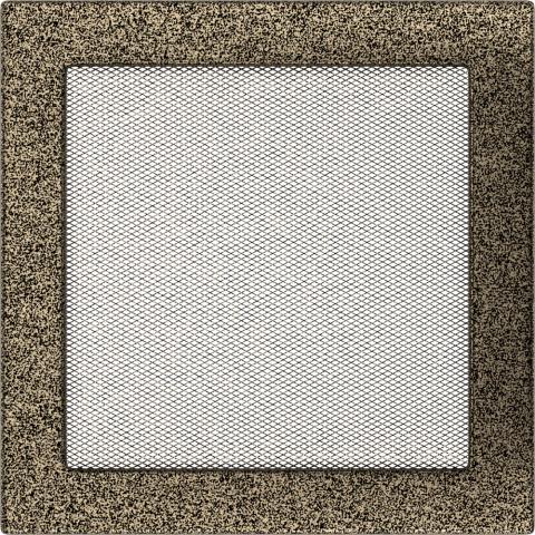 Вентиляционная решетка Черная/Золото (22*22) 22CZ