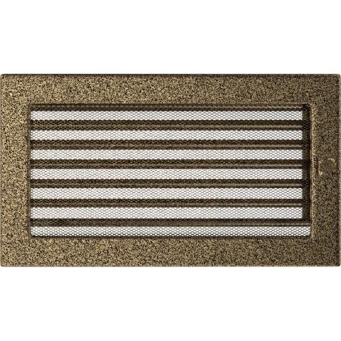 Вентиляционная решетка Черная/Золото с задвижкой (17*30) 30CZX