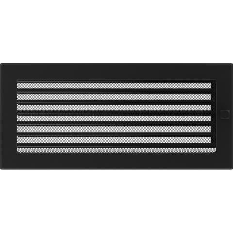 Вентиляционная решетка Черная с задвижкой (17*37) 37CX