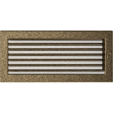 Вентиляционная решетка Черная/Золото с задвижкой (17*37) 37CZX