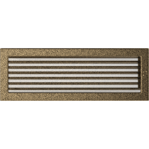 Решетка Черная/Золото с задвижкой (17*49) 49CZX