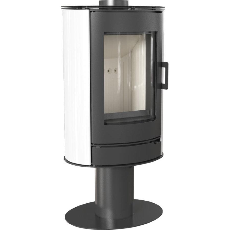 Печь-камин Kratki KOZA/AB/S/N/KAFEL (кафель белый, черный, красный) (8 кВт)