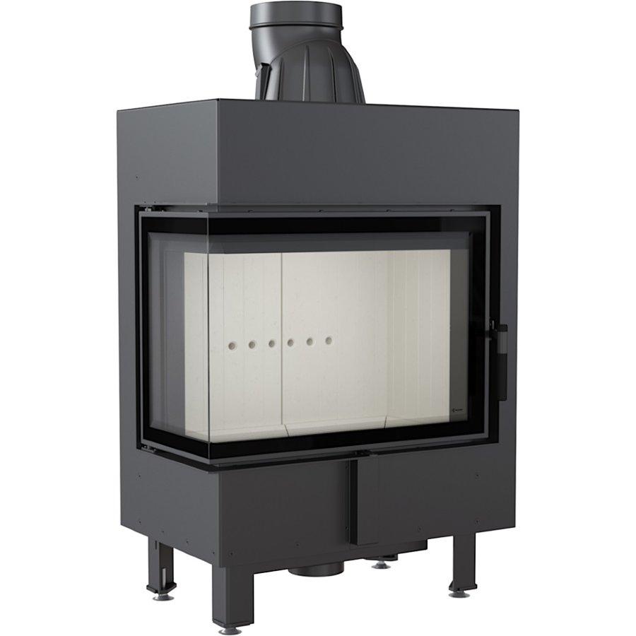 Каминная топка стальная LUCY/12/L/BS (угловое стекло слева) (12 кВт)