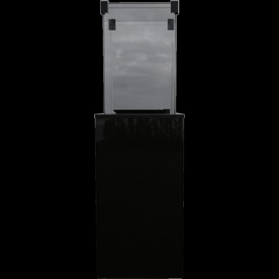 Газовый обогреватель (уличный) PATIO/M/G31/37MBAR/CZ - черное стекло, с ручным управлением (8,2 кВт)