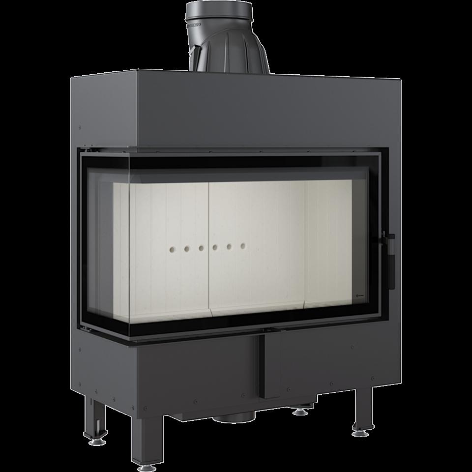 Каминная топка Kratki LUCY/14/L/BS (угловое стекло слева) (14 кВт)