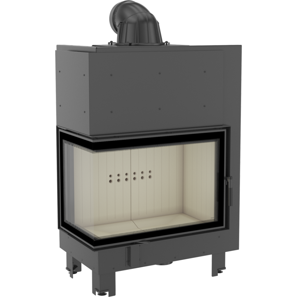 Каминная топка стальная MBA/L/BS/SG (гнутое стекло) (17 кВт)