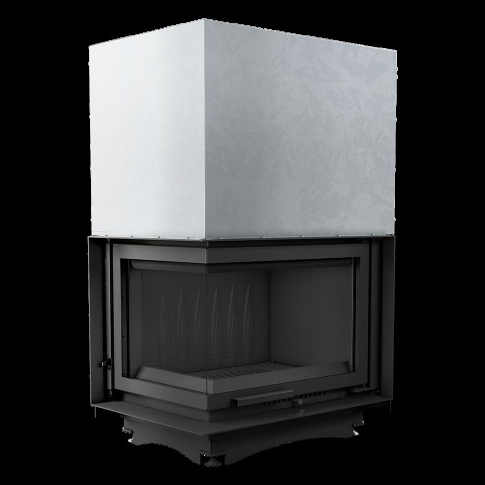 Каминная топка Zuzia/L/BS/G (угловое стекло слева, гильотина) (16 кВт)