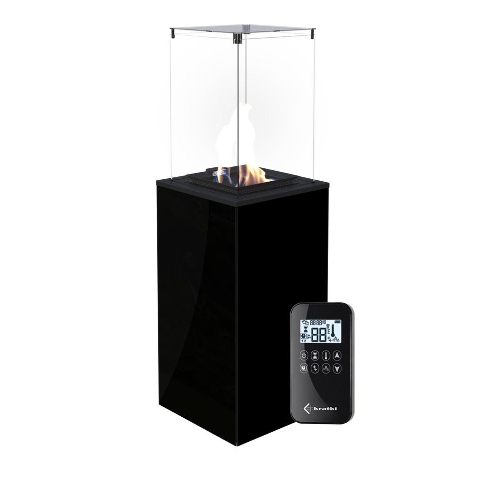 Газовый обогреватель (уличный) PATIO/G31/37MBAR/CZ - черное стекло, с пультом ДУ (8,2 кВт)