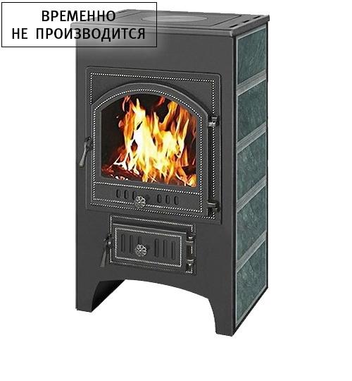 Печь-Камин Везувий ПК-02 (205) с плитой (змеевик) 12 кВт (200 м3) высокий